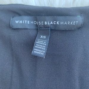 White House Black Market Tops - Dark blue shirt with lines